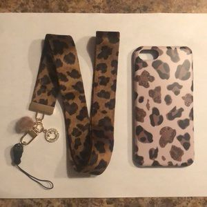 iPhone  8 phone case and lanyard